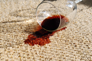 carpet or upholstery wine stain removal service